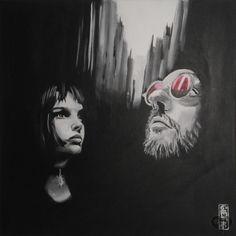 Art Lover Place - Léon et Mathilda (Peinture) par Gief