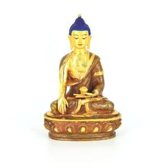 """Gold Plated 8"""" Buddha www.nirvanahandicrafts.com Handicraft, Buddha, Mandala, Statue, Gold, Art, Craft, Art Background, Arts And Crafts"""
