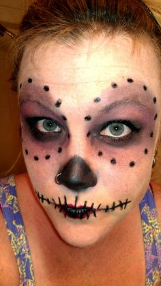Sugar skull for roller derby