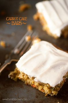 Carrot Cake Bars with Cream Cheese Frosting #recipe | Perfect for Spring and Easter!