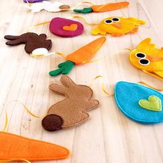 handmade felt and ribbon easter bunting by be good, darcey | notonthehighstreet.com