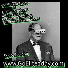 Im a Certified Life Coach  Im have the  reseller license right to 6 digital Products. Which are all in Personal Growth and Business Development in addition to that I have the resellers rights to the lead generator.....  I as help other small businesses and individuals how to market .... Make Thousands&Thousands of dollars........  Here is the personal growth and development site www.GoElite2day.com And the lead generator  www.FelixCordero.com
