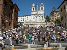 The infamous Spanish Steps by the Via Veneto.