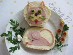 Appetizer Recipes, Snack Recipes, Appetizers, Snacks, Cute Food, Good Food, Kid Sandwiches, Creative Food, Food Design