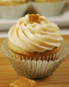 Salted Caramel Cupcakes by The Kitchen is My Playground