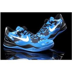 asneakers4u.com Nike Zoom Kobe 8 VIII Women Shoes Blue/Black/White