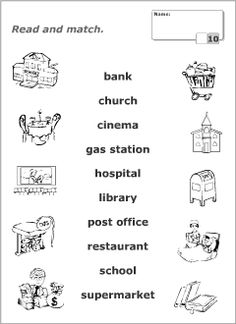 Printable read-and-match worksheets for kids to learn, practise and revise English vocabulary. Resources for ESL teachers. English Worksheets For Kids, English Lessons For Kids, English Activities, Preschool Writing, Kindergarten Math Worksheets, School Worksheets, Social Studies Worksheets, Vocabulary Worksheets, Teaching English