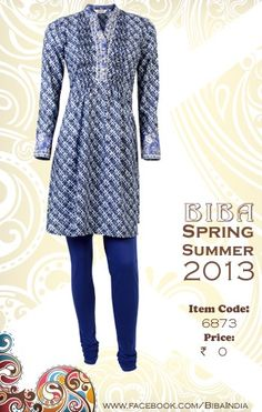 BIBA India, blue and white classic.I want this!