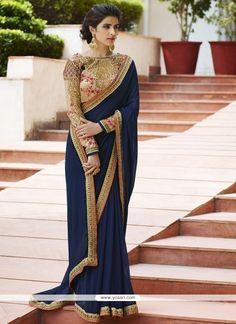 Best place for online indian sari shopping, Silk Sari, Lehenga sarees online uk, paithani sareez and designer wedding saree online in UK at Shopkund. Blue Silk Saree, Silk Sarees, Saris, Indian Outfits, Indian Dresses, Indian Clothes, Desi Clothes, Sari Bluse, Indische Sarees