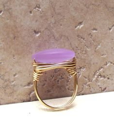 lavender seaglass and gold.