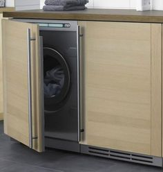 Inspirational images and photos of Laundry & Utility Rooms : Remodelista Built In Furniture, Cabinet Furniture, Washing Machine Cover, Washing Machines, Modern Victorian, Under Sink, Small Space Living, Room Lights, My New Room