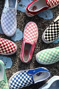 Kick it in retro-cool Vans slip-on sneakers. Make your mark in fun inspired colors. Kick it in retro-cool Vans slip-on sneakers. Make your mark in fun inspired colors. Tenis Vans, Vans Sneakers, Slip On Sneakers, Converse, Cute Shoes, Me Too Shoes, Women's Shoes, Mochila Jansport, Vans Outfit