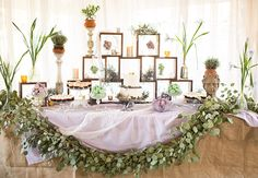 eucalyptus garland dessert table | Birds of a Feather Photography | Blog.theknot.com