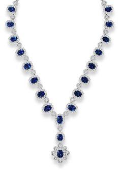 Beautiful sapphire necklace