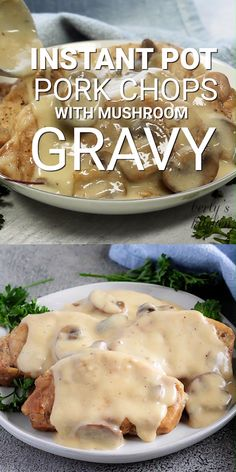 Instant Pot Pork Chops with Mushroom Gravy Instant Pot Boneless Pork Chops make an easy dinner. These pork chops are smothered with a creamy mushroom gravy. Pork Chops And Gravy, Mushroom Pork Chops, Pork Chops And Potatoes, Pork Chops Instant Pot Recipe, Chops Recipe, Instapot Pork Chops, Pork Chop Dinner, Boneless Pork Chops, Instant Pot Dinner Recipes