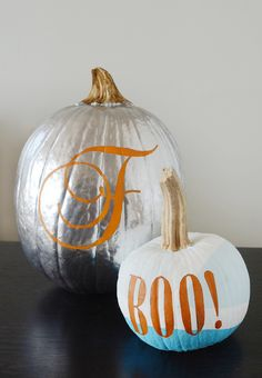 How to: Make Easy DIY Typographic Pumpkins