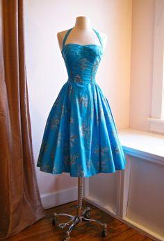 "1950's Surf  Sand Hibiscus print hawaiian dress, waist 24""- sold."