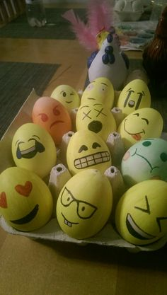 Emoji easter eggs decoration