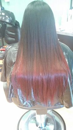 Black & red ombre hair! So proud of this!