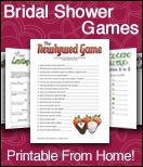 bridal shower themes/games/favors