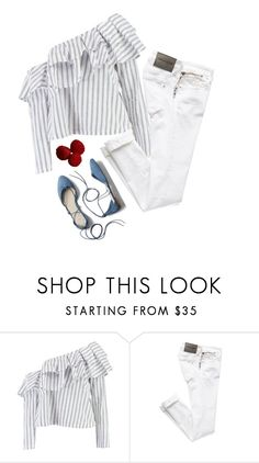 """Untitled #518"" by bojana-687 ❤ liked on Polyvore featuring Boohoo, Gap, white, flats and jeans"