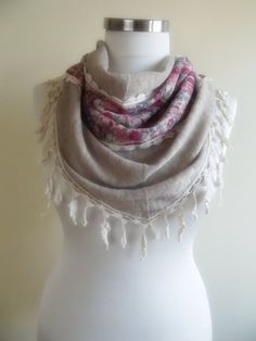 SALE triangle knitted shawl gift for her christmas by smilingpoet, $19.90