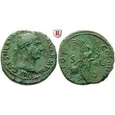 Römische Kaiserzeit, Traianus, As 99-100, ss+: Traianus 98-117. Kupfer-As 99-100 Rom. Kopf r. mit Lorbeerkranz IMP CAES NERVA TRAIAN… #coins