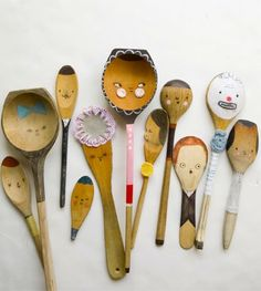 for some reason my students draw on the wooden spoons for printmaking. perhaps i should make it a unit?