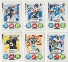 2010 Topps Attax Football Cards Big Names (OFFENSE)