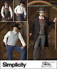 Men's Frock Coat Shirt Vest Historic Reenactment Simplicity Sewing Pattern 2895