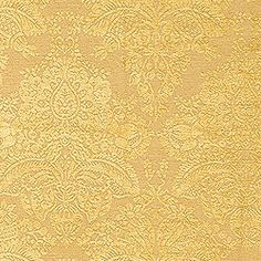 Cape Damask #woven #fabric in #gold from the Tidewater collection. #Thibaut #Damask