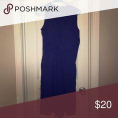 Black Linen Dress Knee length, Linen, side zipper, v neck, front tie. Washable. J. Jill Dresses Midi