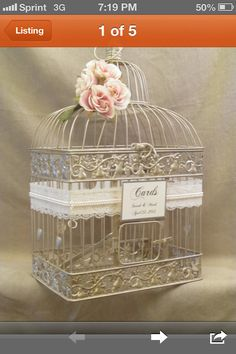 #repost  decorate bird cage like this