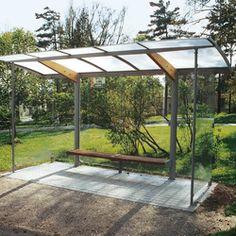regio Bus stop shelter by mmcité Urban Furniture, Furniture Design, Bus Stop Design, Gazebo, Pergola, Bus Shelters, Shelter Design, Public Transport, Design Inspiration