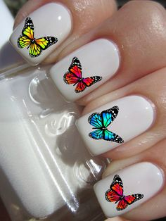 Butterfly Nail Decals by PineGalaxy on Etsy, $4.50