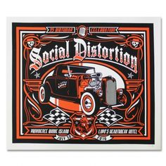 Official Social Distortion merch and music Screen Print Poster, Poster Prints, Mike Ness, Social Distortion, Screen Printing, Motorcycles, Printed, Music, Screen Printing Press