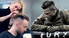 Men's Brad Pitt undercut hair inspiration! In this tutorial we show you how to get a inspired hairstyle from the movie FURY. Haircut & styling by Slikhaar St...