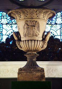 Antique Terra Cotta Greek Revival Blashfield Neo Classical Campana Urn