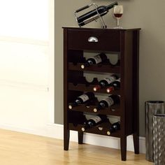Barbara Wine Rack In Cappuccino | Contemporary Home Bar Furniture