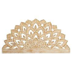 Wood Carved Faux Headboard