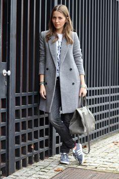 С чем носить серое пальто: 10 стильных нарядов 4
