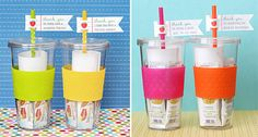 fill the cup with a drawing from the child and a gift card...perfect! or perfect for a secret pal idea