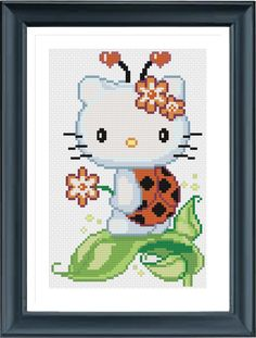 Buy 2 Get 1 Free, Hello Kitty Ladybug, Cross Stitch Pattern, PDF Digital Format by AprilBeeShop on Etsy