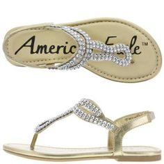 Payless American Eagle Girls' Whitney Rhinestone Sandal