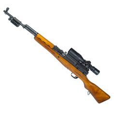 SKS Simonov 7,62 × 39mm rifle with UTG Leapers Brass Shell Cartridge Deflector