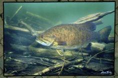 Realfish Inland Series Smallmouth Bass 24X36 Indoor/Outdoor Floor Mat