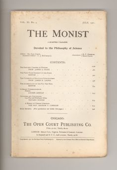 D. T. Suzuki Defends the Authenticity of the Tao Teh King of Lao Tze ; also Biblical Fairy Tales ,  Religious Consciousness - in THE MONIST, July 1901. For sale by ProfessorBooknoodle, $32.00