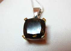4 Ct Cushion Cut Smokey Quartz Pendant Sterling Silver | eBay