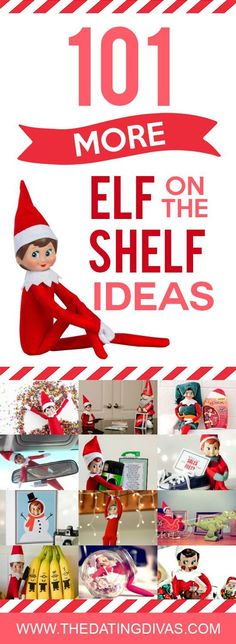 Enjoy a new Elf on the Shelf idea each night!! Over 100 ideas to fill your holiday season! This is your one stop shop for fabulous Elf on the Shelf ideas!