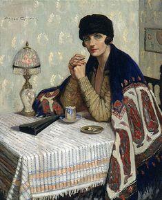 avec Cigarette Girl - Agnes Goodsir  1925